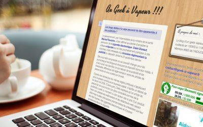 Au Geek à Vapeur, un blog info vape bien réactif sur l'actu