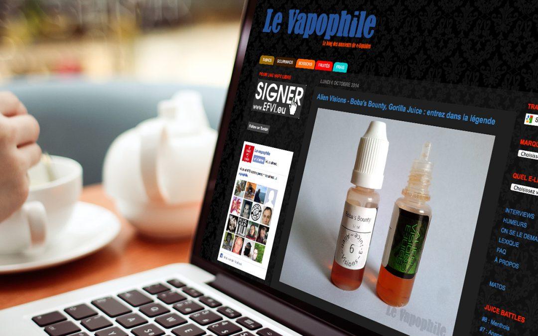 vapologie e-liquides avec Le Vapophile