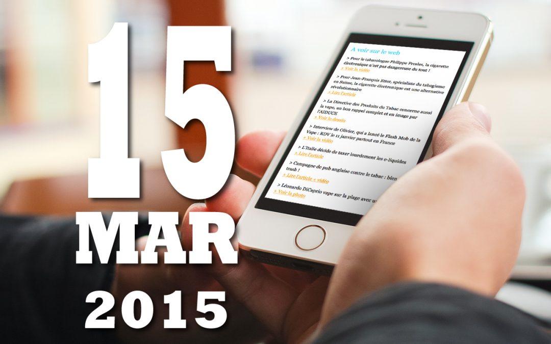 Vap'News : 15 mars 2015