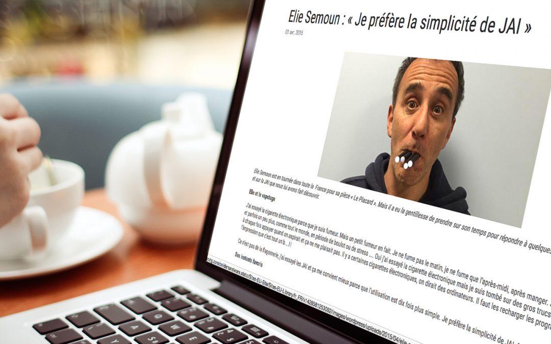 Elie Semoun fricotte avec l'industrie du tabac