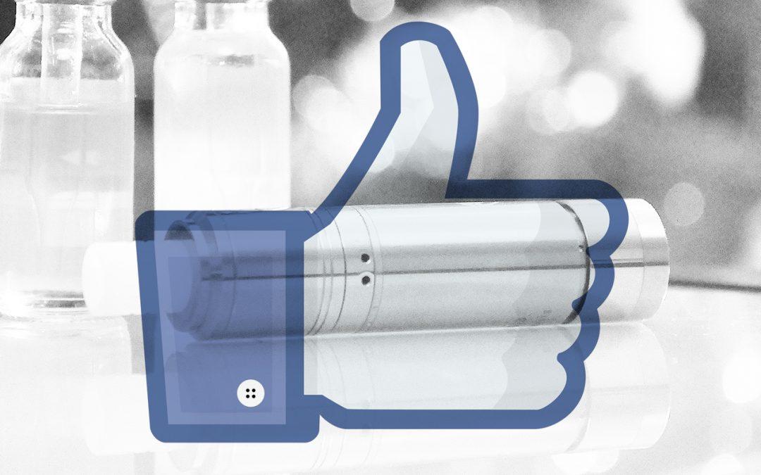 Un regard intéressant, les vapoteurs sur Facebook