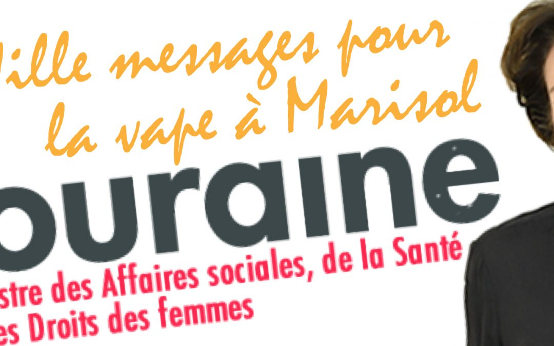 Mille messages pour la vape à Marisol Touraine