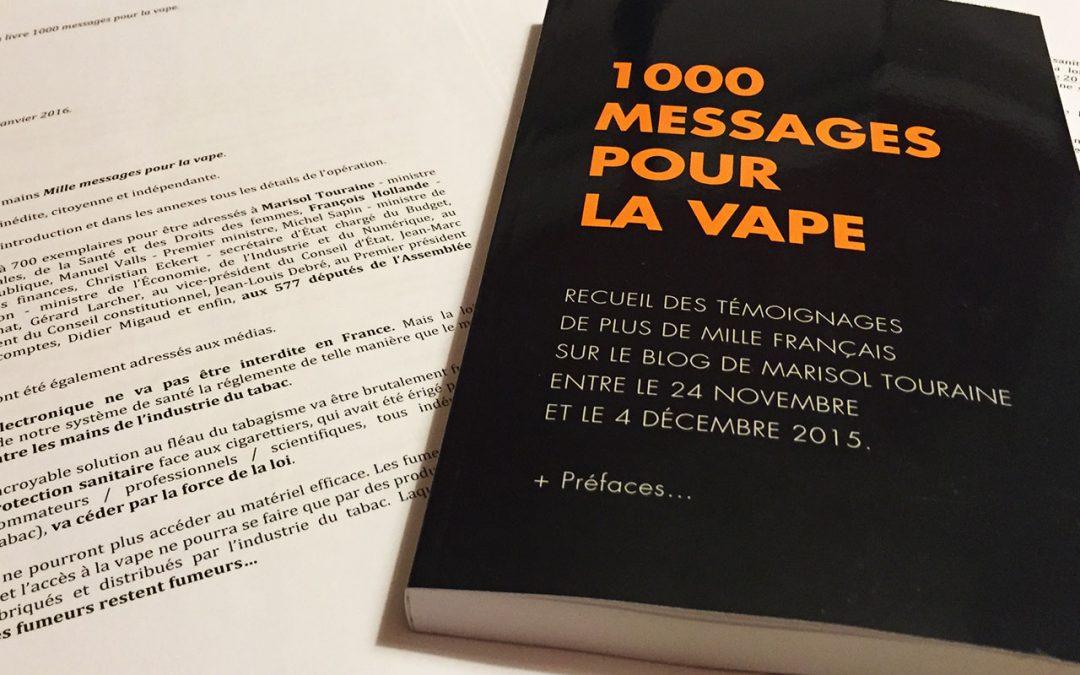 lettre aux députés 1000 messages pour la vape