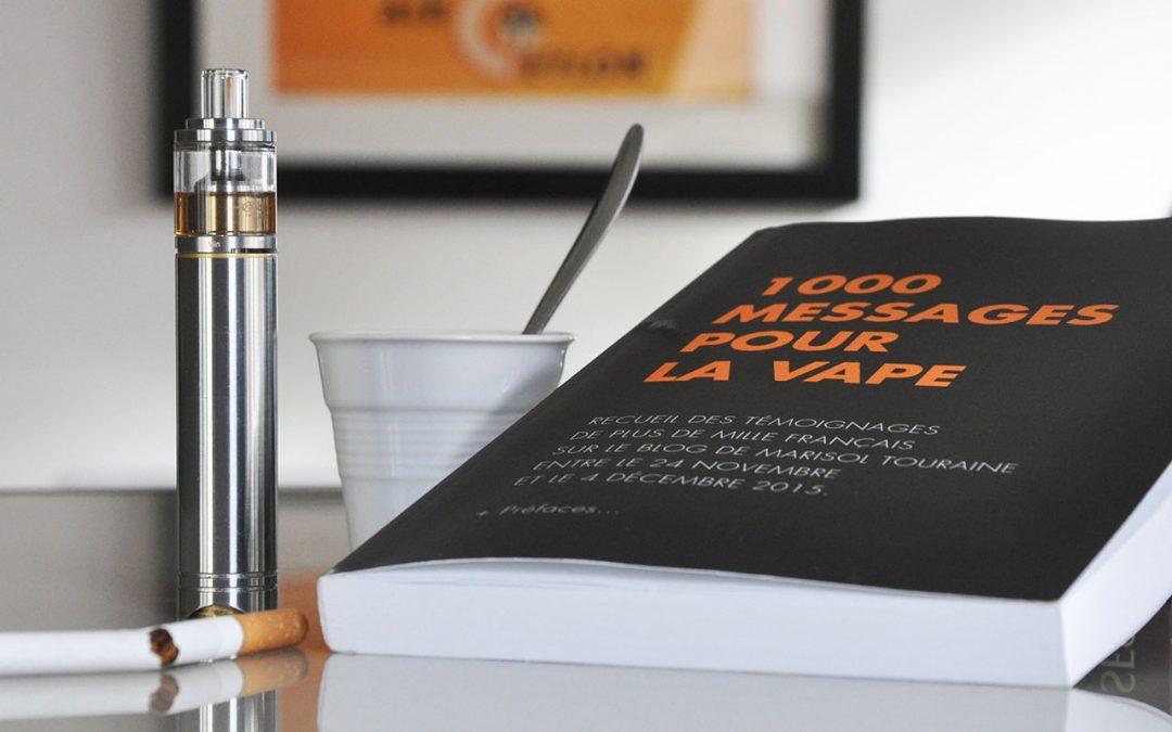 Communiqué de presse, historique et mise en vente du livre 1000 messages pour la vape