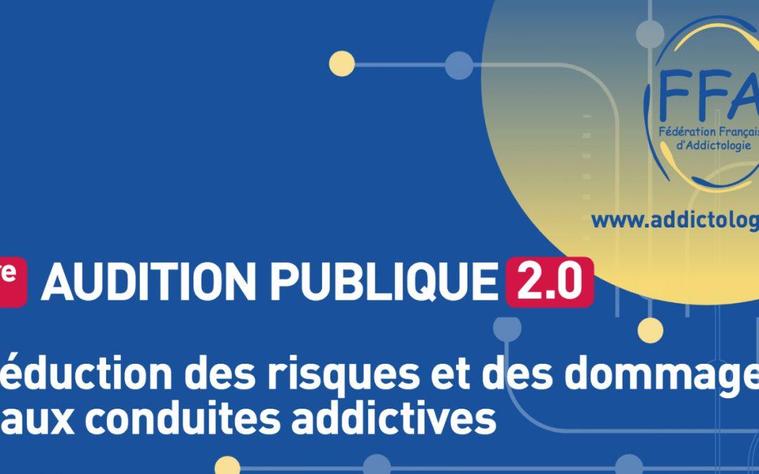Fédération française d'addictologie en audition publique au ministère de la santé