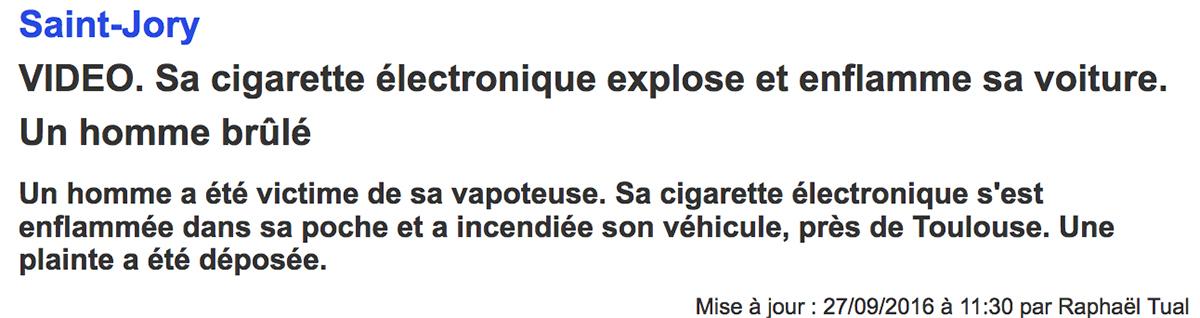 désinformation sur la cigarette électronique