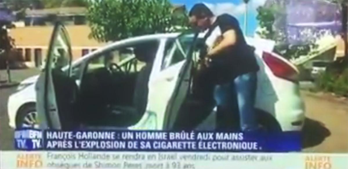 mensonge BFM sur l'explosion d'une cigarette électronique