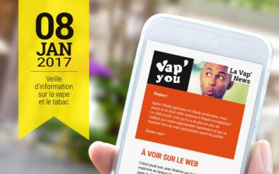 Vap'News : 8 janvier 2017