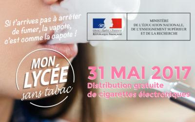 Distribution gratuite de cigarettes électroniques dans tous les lycées de France !