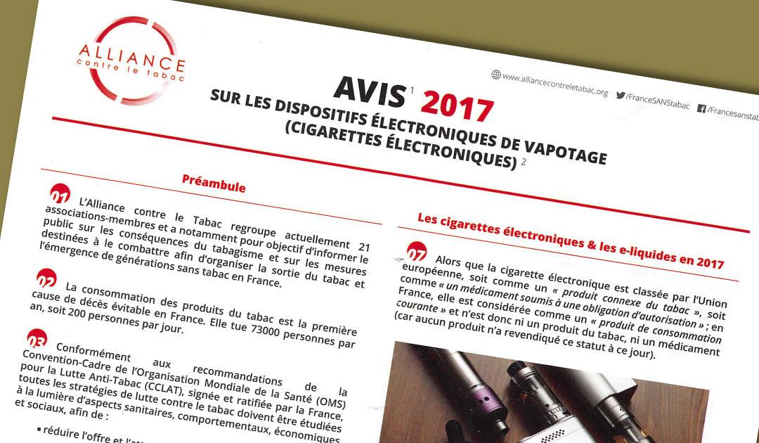 vapotage et Alliance contre le tabac