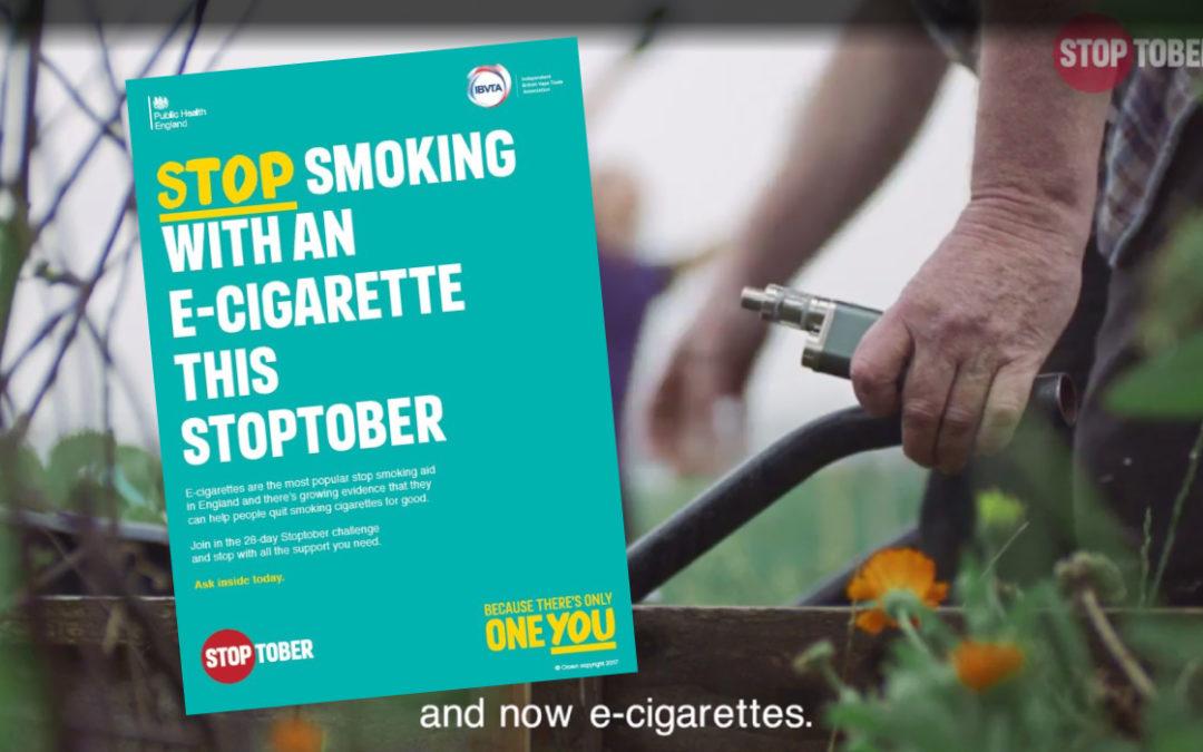 Avec la vape au cœur du STOPTOBER, les britanniques sauvent les fumeurs