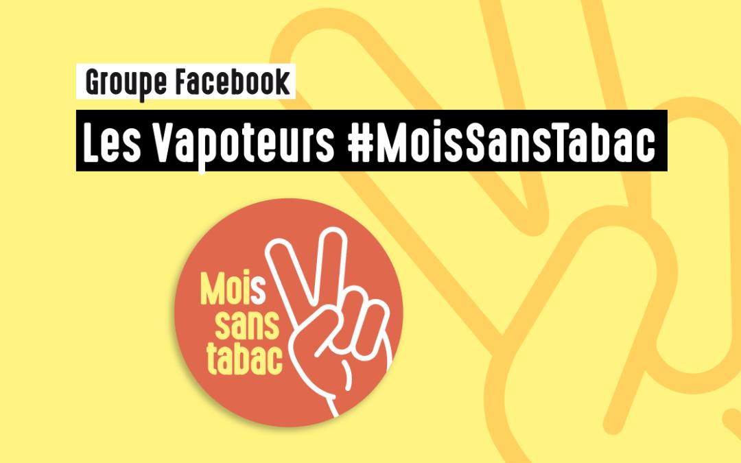 Groupe Facebook Les Vapoteurs #MoisSansTabac