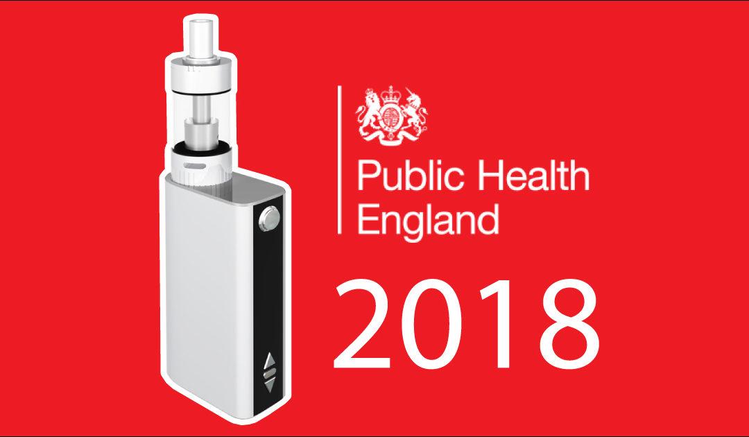 Public Health England, nouveau rapport 2018 sur la vape