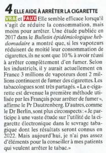 La vape aide à arrêter de fumer