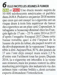 La vape incite les jeunes à fumer