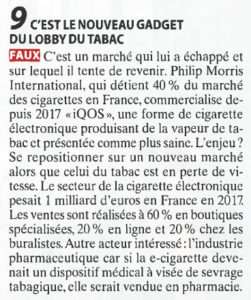 La vape gadget de l'industrie du tabac