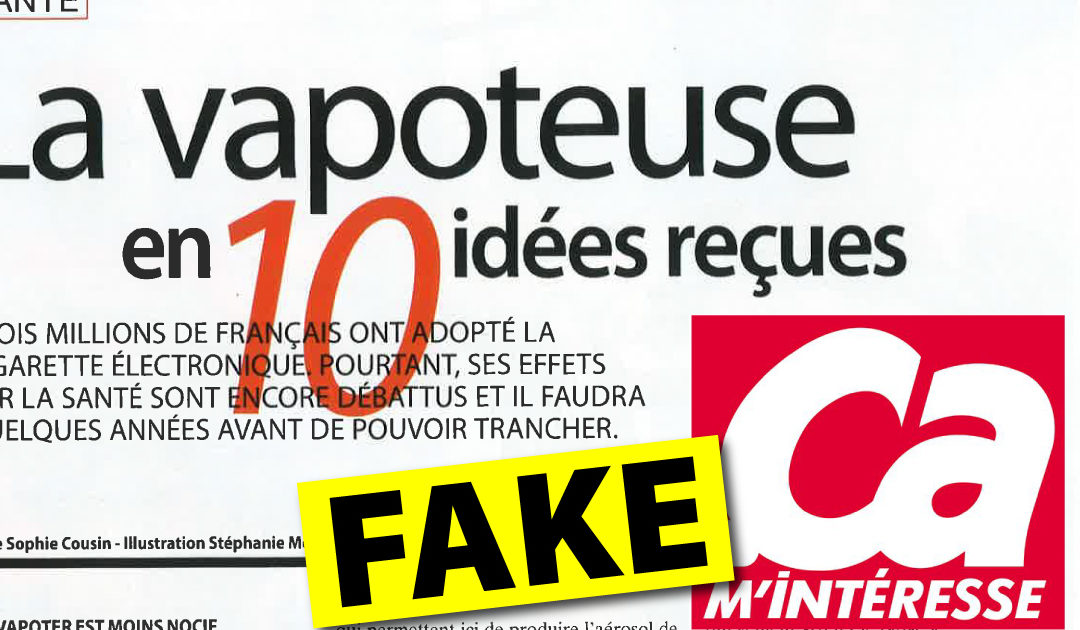 Fake news en série sur la vape dans le magazine Ça m'intéresse