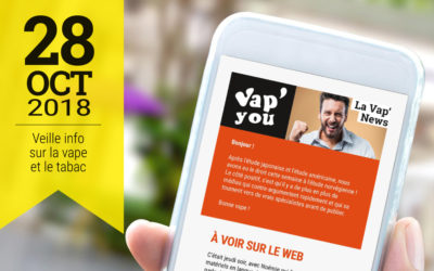 Vap'News : 28 octobre 2018