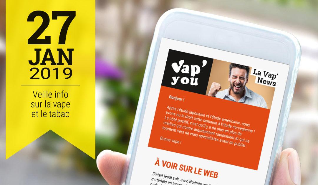 Vap news info sur la vape et le tabac