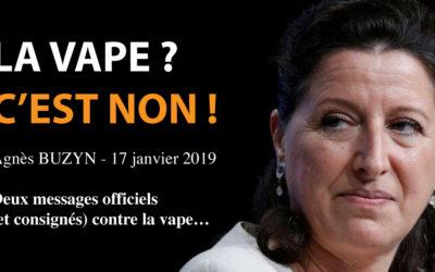 Agnès BUZYN enterre le Groupe de Travail Vapotage et confirme le déni officiel