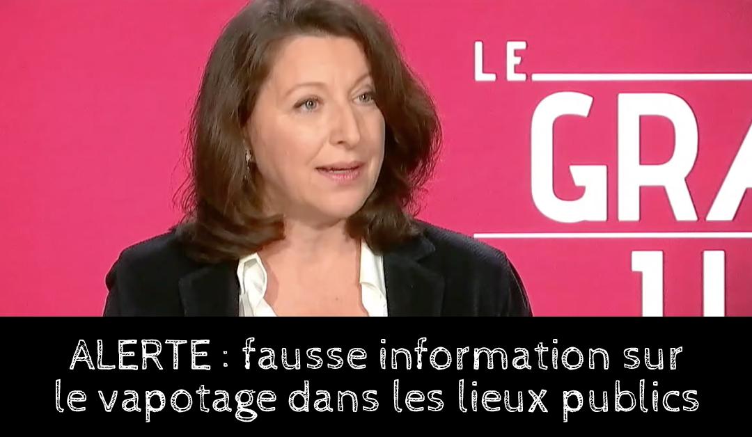 Vapotage dans les lieux publics : Agnès BUZYN renvoie les vapoteurs s'exposer à la fumée de cigarette