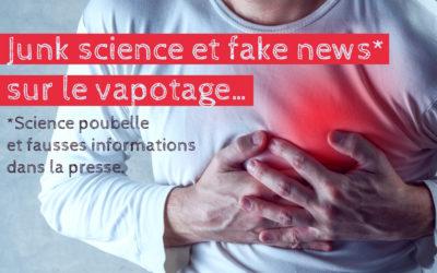 Nouvelle fake news dans la presse française : vapotage et maladies cardiaques