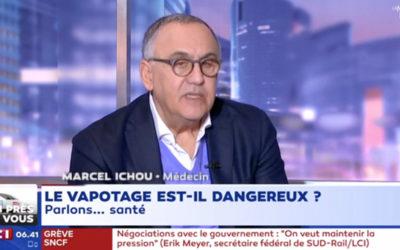 Dr Marcel ICHOU sur le vapotage : infraction au code de la santé publique (art. 13) sur LCI ?