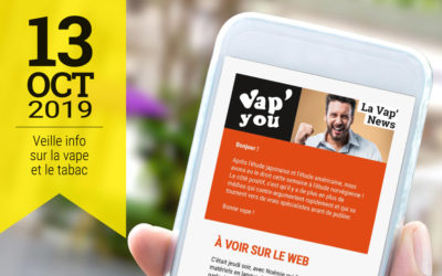 Vap'News : 13 octobre 2019