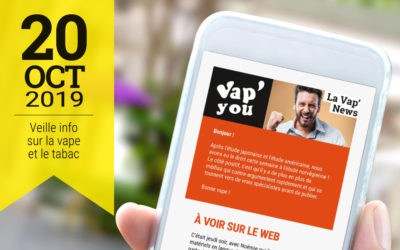 Vap'News : 20 octobre 2019