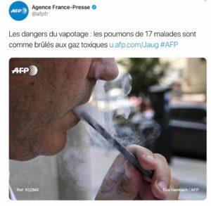 AFP désinformation anti-vape