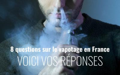 Résultats du questionnaire sur le vapotage en France