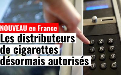 Une nouvelle loi autorise les distributeurs de cigarettes en France