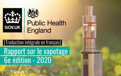 Mise à jour 2020 du rapport sur la vape en Angleterre par le Public Health England (PHE)