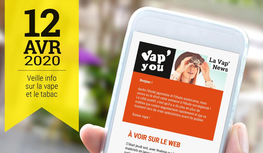 Vap'News nicotine et Covid-19, enquête vapoteurs en France