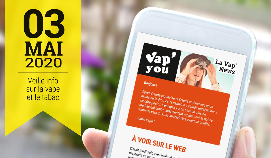 Newsletter d'informations sur la vape