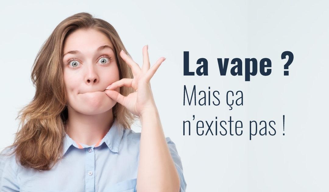 Chez Santé Publique France, la vape n'existe plus