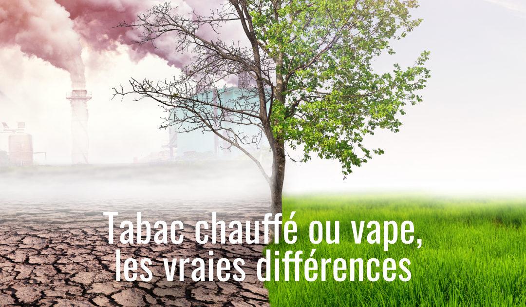 Les différences entre la vape et le tabac chauffé
