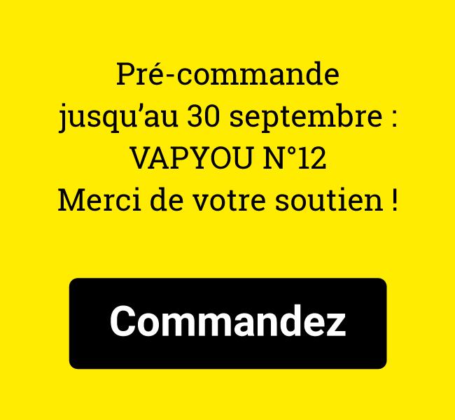 Pré-commande jusqu'au 30 septembre : VAPYOU N°12. Merci de votre soutien !