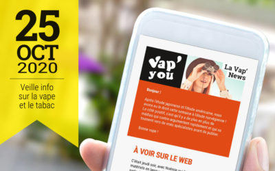 Vap'News : 25 octobre 2020