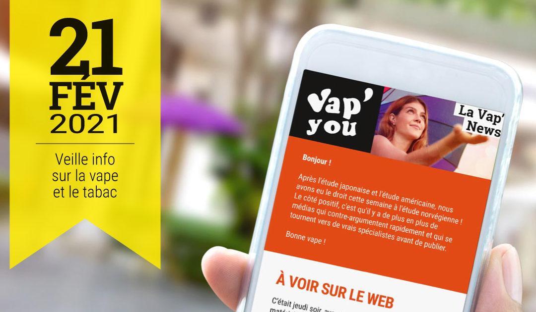 Vap'News veille info vae et tabac