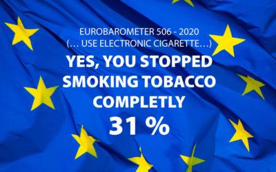 Eurobaromètre 2020 : l'impact visible de la vape sur la baisse du nombre de fumeurs